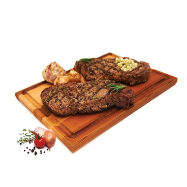Cedar Steak Carving Board
