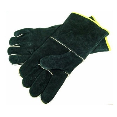 Black Leather BBQ Grilling Gloves