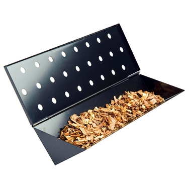Long Non-Stick Gas Grill V-Shaped Smoker Box
