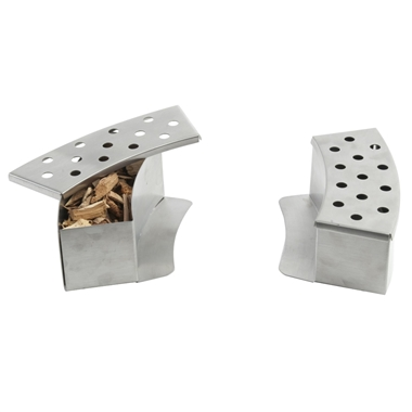 Stainless Steel Curved BBQ Smoker Boxes for Gas Grill