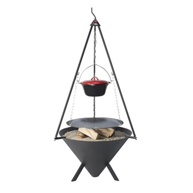 Bon-fire Cone Brazier for Outdoor Cooking and Heating
