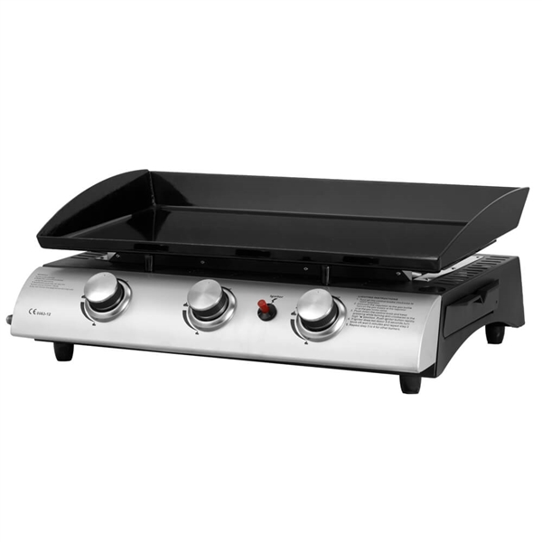 gas griddle flat top hot plate with 3 burners. Black Bedroom Furniture Sets. Home Design Ideas
