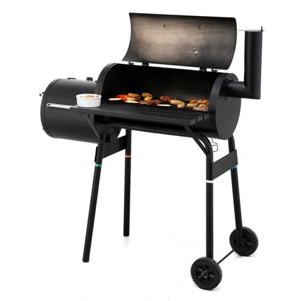 Offset Charcoal Barbecue Smoker Barrel