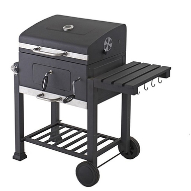 Toronto Charcoal BBQ Grill with side table