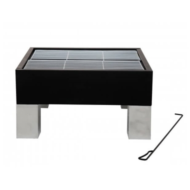 Square Outdoor Fire Pit and BBQ Grill