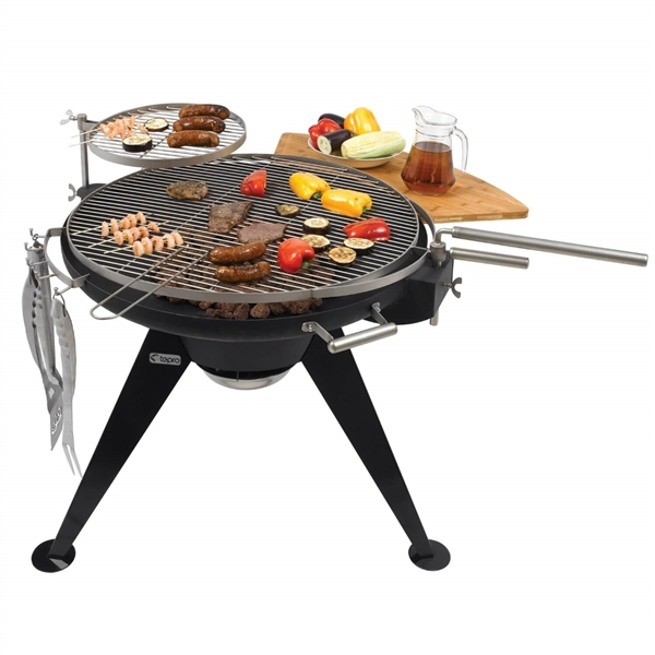 Huge Round Charcoal Bbq Grill 75cm Diameter