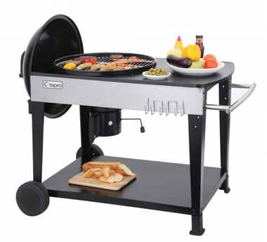Kettle BBQ Grill with Trolley Table