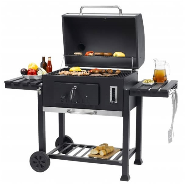 toronto xxl charcoal bbq grill with side tables. Black Bedroom Furniture Sets. Home Design Ideas