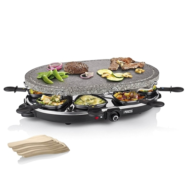 Stone Raclette Party Grill for 8 People
