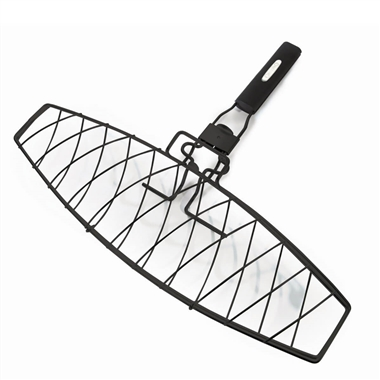 Single Fish Grilling Basket with Detachable Handle