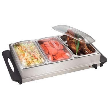Large 3 Pan Buffet Warmer