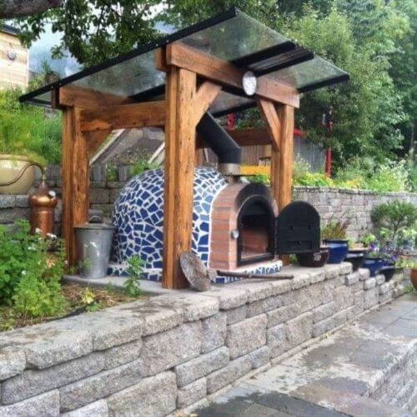 Mosaic Outdoor Wood Fired Pizza Oven