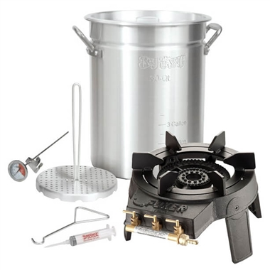 Turkey Fryer Set with Burner and Turkey Fryer Pot