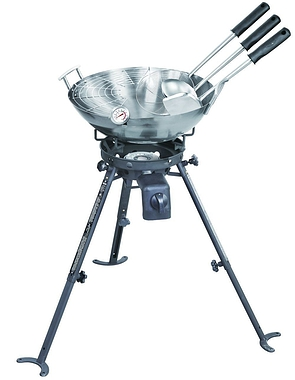 Complete Outdoor Gas Wok Set & High Power Burner