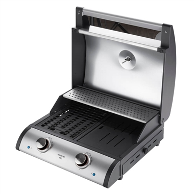 Premium Electric Barbecue Grill with Cast Iron Grill Grates