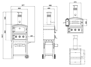 Fornetto Wood Fired Outdoor Oven and Smoker
