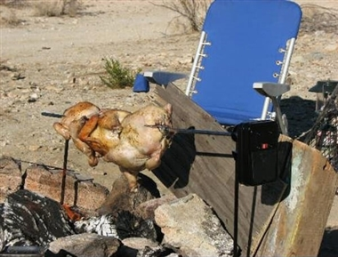 Grizzly Spit BBQ Rotisserie for Camp Fires or Fire Pits
