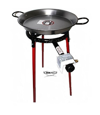Gas Paella Pan Cooking Sets with legs and spoon