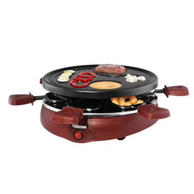 Compact Gourmet Raclette Grill for up to 6 people