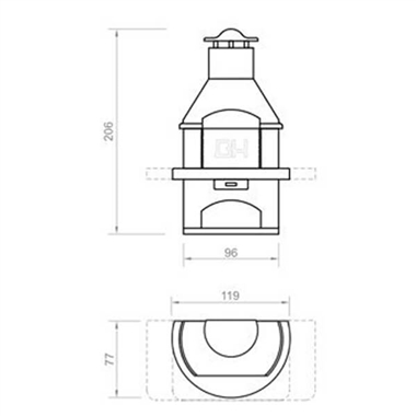 Rondo Masonry Bbq Grill With Steel Chimney besides Instructions On Building A Pellet Grill moreover  on brick bbq plans with dimensions