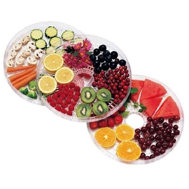 Dehydrator Trays with Food