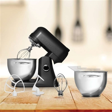 Powerful 1000W Wartmann Kitchen Mixer 4.5 Litre Complete Set Black