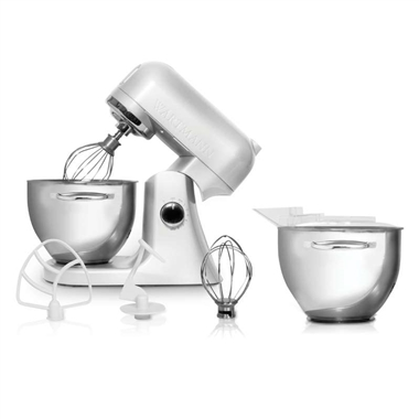 Powerful 1000W Wartmann Kitchen Mixer 4.5 Litre Complete Set White